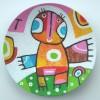 babybird-2010-acrylverf-op-bamboeschaal-drsn-20-cm