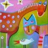 paard-en-poes-2007-acrylverf-op-canvasdoek-20x20-cm-vk
